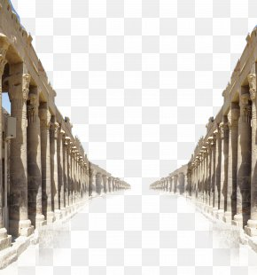Greek Architectural Pillars Decorated Background - Column Architecture PNG