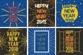 Happy New Year Card - New Year Santa Claus Wish Happiness Christmas PNG