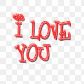 I Love You - Text PNG