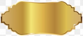 Golden Label Clipart Picture - Rectangle Material Metal PNG