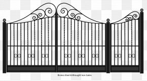 Gate - Gate Fence Wrought Iron Steel PNG