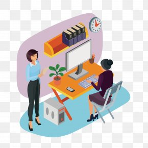 Woman In Office - Office Stock Photography Businessperson Illustration PNG