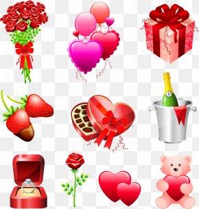 Valentines Day - Wedding Invitation Valentine's Day Gift Clip Art PNG