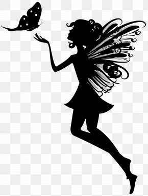 Butterfly Fairy Cliparts - Silhouette Fairy Clip Art PNG