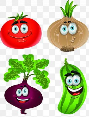 Cartoon Onion Tomato Vegetables - Vegetable Cartoon Drawing Clip Art PNG