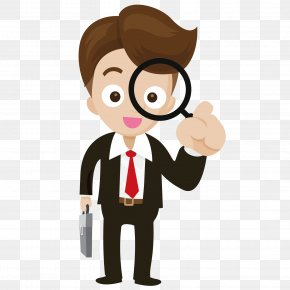 Take The Magnifying Glass Business People - Magnifying Glass Magnification Icon PNG
