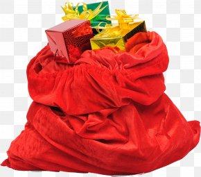Christmas Bags Material Free Download - Santa Claus Christmas Bag Clip Art PNG