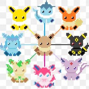Kawaii Pixel Art - Pixel Art Eevee PNG