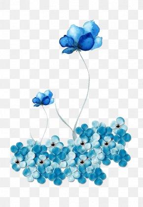Blue Flower Pattern Material - Blue Download PNG