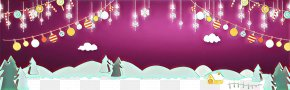 Animation Stage - Merry Christmas Happy New Year Christmas Background PNG