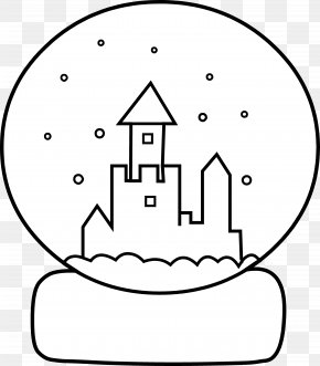 Globe Line Art - Snow Globe Coloring Book PNG