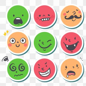 Color Face Sticker Vector Material - Sticker Label PNG