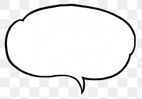 Speech Bubble - Black And White Eyewear Clip Art PNG