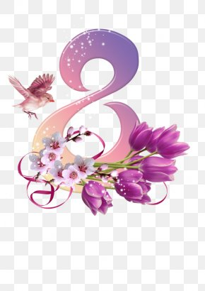 March 8 - March 8 International Women's Day Holiday Clip Art PNG