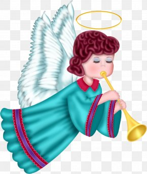 Cute Angel With Blue Robe Free Clipart Picture - Angel Cherub Clip Art PNG