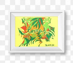 Leaf - Art Picture Frames Leaf Rectangle Font PNG
