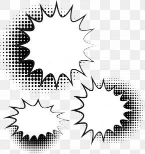 Comic Decoration Explosion Stickers - Comics Speech Balloon Explosion PNG
