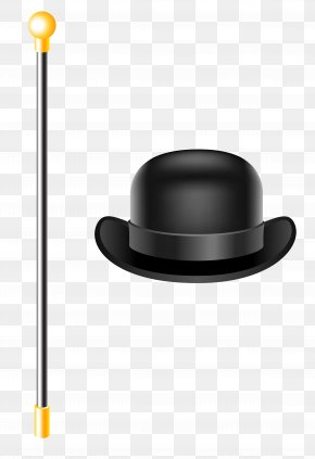 Bowler Hat With Cane Clipart Picture - Bowler Hat Top Hat Clip Art PNG