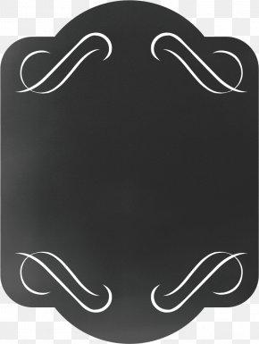 Blackboard Ornament - Black Label Stationery Tag Font PNG
