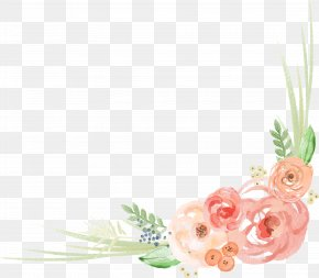 Watercolor Lace Angle - Floral Design Flower Watercolor Painting PNG