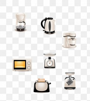 Kettle, Microwave Ovens And Other Small Appliances - Home Appliance Kitchen Small Appliance Household Goods PNG