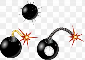 Vector Hand Painted Bombs - Time Bomb Explosion Nuclear Weapon PNG