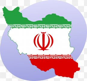 Map - Flag Of Iran Map National Flag PNG