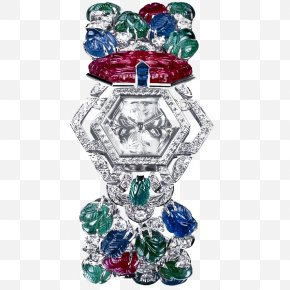 Jewelry Watches - Earring Watch Cartier Jewellery Ruby PNG