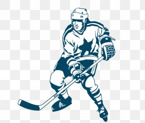 Hand-painted Hockey Player - National Hockey League Ice Hockey Player PNG