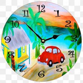 Watercolor Alarm Clock - Alarm Clock Table Watercolor Painting PNG