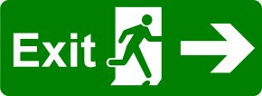 Exit Signs Pictures - Exit Sign Emergency Exit Safety Signage PNG