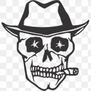 Skull - Calavera Skull And Crossbones Tattoo Henna PNG