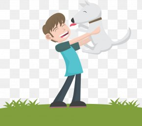 Vector Cartoon Boy And Dog - Dog Puppy Cat Euclidean Vector PNG