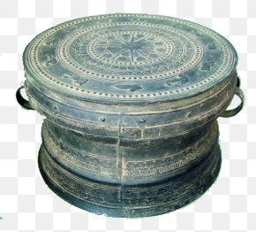 Vintage Bronze Drum - Guangxi Tonggu County Tru1ed1ng U0111u1ed3ng Zhuang People PNG