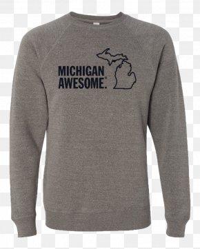 T-shirt - T-shirt Hoodie Sleeve Crew Neck Bluza PNG