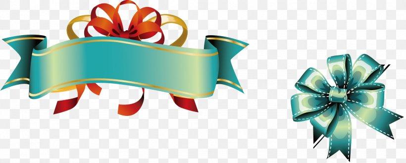 Ribbon Euclidean Vector Banner Clip Art, PNG, 2445x983px, Ribbon, Awareness Ribbon, Banner, Bow Tie, Clip Art Download Free