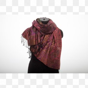 Neck Maroon Stole PNG