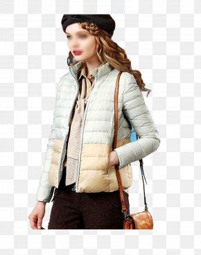 Women's Fashion Coat - Sleeve Jacket Coat Daunenjacke Winter PNG