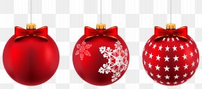 Beautiful Red Christmas Balls Clip-Art Image - Christmas Ornament Christmas Day Clip Art PNG