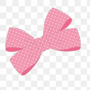 Little Pink Bow - Pink Ribbon Bow Tie PNG