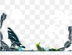 Vector Plant - Summer Poster Illustration PNG