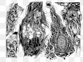 Arm Tattoo - Tattoo Artist Flash Desktop Wallpaper PNG