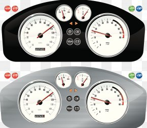 Metal Texture Dashboard - Car Speedometer Dashboard Illustration PNG