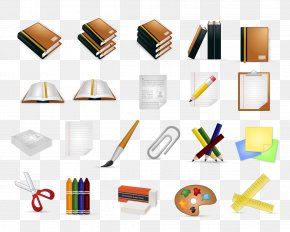 Exquisite Book Supplies Icon - Icon Design Stationery Icon PNG