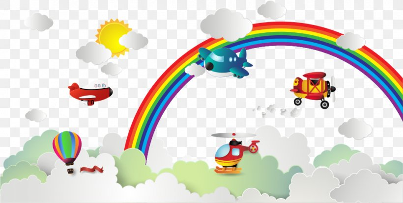 Rainbow Euclidean Vector, PNG, 979x495px, Rainbow, Architecture, Area, Brand, Cloud Download Free