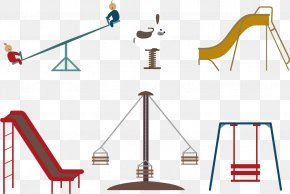 Vector Park Toys - Seesaw Playground Slide Computer File PNG
