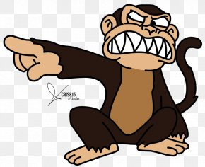 Monkey Cartoon - The Evil Monkey Drawing Cartoon PNG