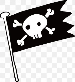 Pirate Flag - Piracy Flag Jolly Roger PNG