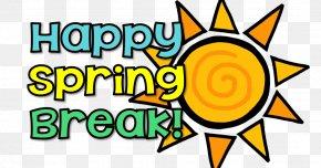 Spring Summer Break - East Meadows Elementary School Spring Break Clip Art PNG