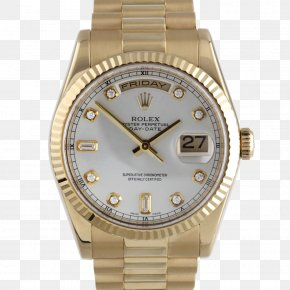Rolex - Rolex Datejust Watch Platinum Gold PNG